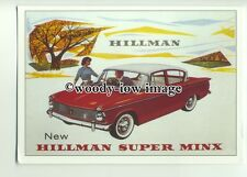 ad1194 - Hillman Super Minx Car - Modern Advert Postcard