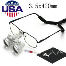 Dental Loupes 3.5X 420mm Surgical Binocular Medical Dentist Metal Frame Glasses
