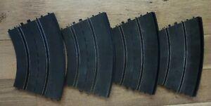 VINTAGE ELDON 1:32 SLOT CAR  Banked Curve TRACK Pieces Lot of 4, 1435-11; 1968