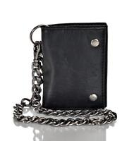 Levi's Men's Leather Trifold Chain Wallet Black