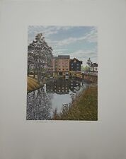 """GRAHAM EVERNDEN b1947 """"The Roller Mill"""" limited edition ETCHING 131/200"""