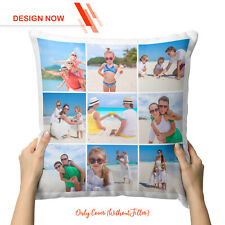 Personalised Collage Cushion Cover Custom Photo Pillowcase Design Now Father's D