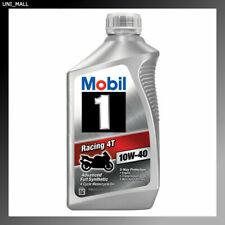 Mobil 1 Racing 4T 10W-40 Motorcycle Oil, 1-Quart (124245)
