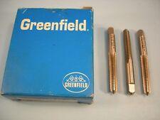 Qty 9 New Greenfield 5/16-18 NC GH3 HSS Grd Thd 4 Flute Taper Taps