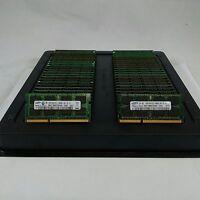 LOT 100 SAMSUNG MICRON HYNIX 2GB DDR3 PC3-10600 1333MHz Laptop SODIMM MEMORY RAM