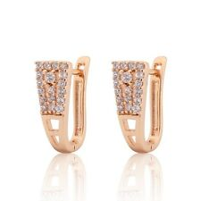 Charming white sapphire HOOP vogue 18K gold filled LADY jewlery fashion earring