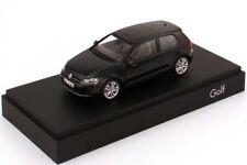 VW GOLF 7 VII GT TSI TDI HIGHLINE 3 DR DEEP BLACK 1:43 HERPA (OEM DEALER MODEL)