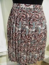 NWT LAVIA made in ITALY 100%POLY PAISLEY DESIGN PLEATED  LINED SKIRT SZ 46