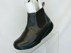 MBT Brown Leather Comfort Elastic Ankle Fashion Boots Bootie Size 6 B