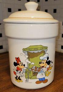 Vintage Disney Treasure Craft Mickey Mouse Minnie Pluto Cookie Jar Canister #960