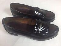 Bass Shoes Men's Loafer Kilt Dark Burgundy Moc Toe Leather Metal Bit Size 6 C