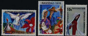 Dominican Republic 805-6, C284 MNH Christmas, Dove