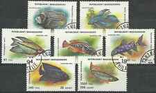 Timbres Poissons Madagascar 1398/1404 o lot 25214