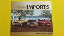 Plymouth MITSUBISHI CHAMP Sapporo Flèche les ventes automobiles brochure catalogue 1981 Comme neuf