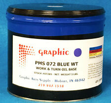 PMS 072 BLUE OFFSET INK - WORK & TURN OIL BASE INK 1 X 5 POUND CAN