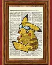Pokemon Pikachu Dictionary Art Print Poster Picture Anime Manga