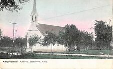 Princeton Minnesota exterior view of the Congregational Church antique pc Y3771