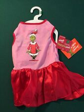 Dr. Seuss  Grinch Stole Christmas Dog / Cat Dress, Tutu, Skirt Red & Pink*Large