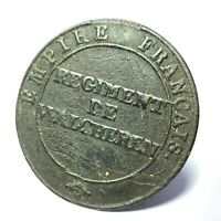 Dug Napoleonic French Walcheren penal regt. button 1812 Campaign - CONSERVED