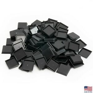 Pack of 100, 25 mm Plastic Square Bases Miniature Wargames Table Top gaming