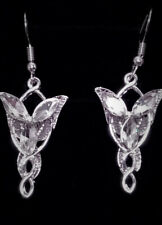 Silver Alloy Lord of The Rings Arwen Evenstar Earring Set