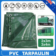 PVC Tarpaulin Tarp Heavy Duty Waterproof Canvas Camping  Trailer Cover Anti-UV