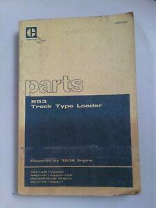 Caterpillar 953 Track Type Loader parts manual. Genuine Cat book.