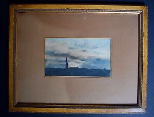 Aquarell Lancaster Gate London England Unterzeichnet Jacques Delettrez Xx 1907