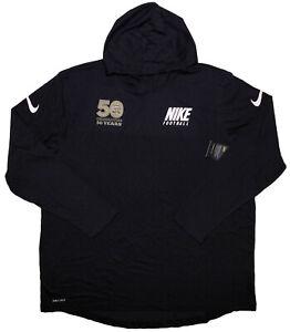 NIKE UCF Knights Chick-Fil-A Peach Bowl Long Sleeve Hoodie Shirt Black 3XL ~ New