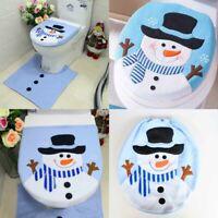 Merry Christmas Toilet Seat Cover Xmas Santa Claus Bathroom Mat Home Decorations