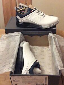 Ecco Golf S-Three GORE-TEX Spikeless Men's Golf Shoes (White UK 10) BNIB
