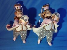 Katherine'S Collection Set of 2 Victorian Rabbits Holding an Egg Ornaments