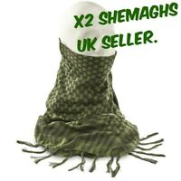 x2 SHEMAGH HEADSCARF Military Keffiyeh Arab Army Woven SAS Veil Wrap UK SHEMAGHS