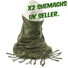 x2 SHEMAGH HEADSCARF Military Keffiyeh Arab Army Woven SAS Veil Wrap UK SHEMAGHS