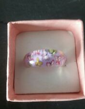 Brand new purple butterfly pattern ring size M.5! Costume jewellery!