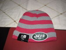 WOMENS NEW YORK JETS BREAST CANCER Knit Beanie Cap Hat Toque New Era  NWT