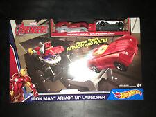 HOT Wheels Marvel Avengers Iron Man ARMOR-UP Launcher (DKT30) Tony Stark AUTO