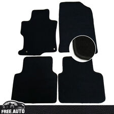 4Pc For 08-12 Honda Accord Floor Mats Carpets Front Rear Black Nylon
