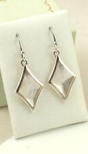 SASSI E6505 Ladies 925 Sterling Silver Mother of Pearl Hook Drop Earrings