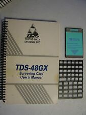 TDS SURVEY GX Surveying Card With Manual and Overlay for use with the HP-48GX
