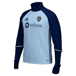 Sporting Kansas City MLS Adidas 2016 Sideline Light Blue L/S Training Top