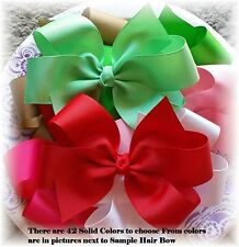 14 hair bows 6 inch Custom to Your Solid Colors Boutique Bows Choose clip option