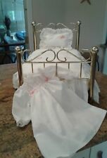 American Girl Doll Samantha Brass Bed Furniture ,bedding and retired Nightgown