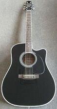 Takamine Legacy EF341SC Acoustic Electric Guitar w/Case Gloss Black -NEW