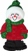 Female Name Snowgirl Brooklyn Personalized Christmas Tree Ornament