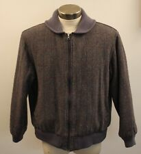 LARGE , REVERSABLE ORIGINAL VINTAGE MENS  GREY BOMBER JACKET.