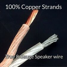 20 foot 8 Full Gauge AWG Parallel Speaker Wire OFC Oxygen Free Copper NEW Item!