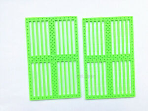 2pcs Car Chassis Perforated Plastic Panel Board Toy Car Frame DIY Robot Model
