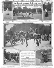LA GRANDE SEMAINE DE COMPIEGNE ADP & MME FELYNE TOILETTE DE BECHOFF-DAVID 1905