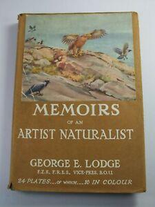 1946 MEMOIRS OF AN ARTIST NATURALIST BY LODGE 16 COLOUR PLATES